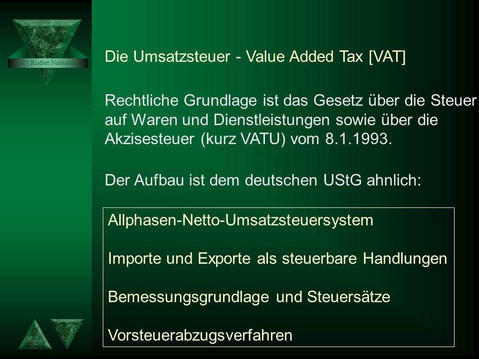 Die Umsatzsteuer - Value Added Tax [VAT]